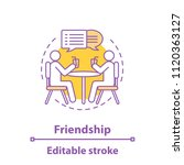 friendship concept icon.... | Shutterstock .eps vector #1120363127