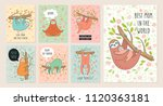 Set Of Cards With Cute Hand...