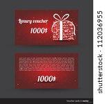 luxury voucher card for... | Shutterstock .eps vector #112036955