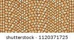 cobblestone arched pavement... | Shutterstock . vector #1120371725