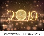 2019 abstract holiday new year... | Shutterstock .eps vector #1120372217