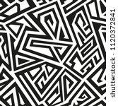 monochrome ancient seamless... | Shutterstock .eps vector #1120372841
