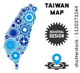 industrial taiwan island map... | Shutterstock .eps vector #1120373264