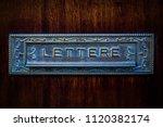 vintage italian metal mailbox... | Shutterstock . vector #1120382174