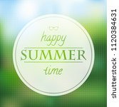 summer time poster with... | Shutterstock .eps vector #1120384631