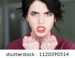 emotion face. furious angry... | Shutterstock . vector #1120390514