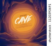 cave landscape with place for... | Shutterstock .eps vector #1120393691