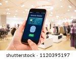 digital mobile wallet concept... | Shutterstock . vector #1120395197
