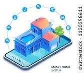 smart home isometric... | Shutterstock .eps vector #1120398611