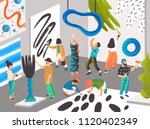 artists and sculptors painting... | Shutterstock .eps vector #1120402349