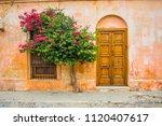 old rustic vintage exterior... | Shutterstock . vector #1120407617