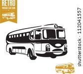 Retro Bus. Vintage Bus.