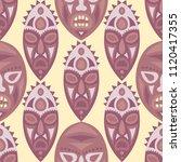 seamless background. tribal... | Shutterstock .eps vector #1120417355