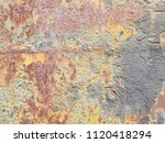 texture of rusty iron. aged... | Shutterstock . vector #1120418294