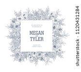 square wedding invitation or... | Shutterstock .eps vector #1120431284