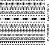 vector tribal ethnic seamless... | Shutterstock .eps vector #1120440701