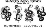 vector traditional tattoo... | Shutterstock .eps vector #1120446701