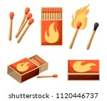 Collection Of Matches. Burning...
