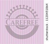 carefree vintage pink emblem | Shutterstock .eps vector #1120451864