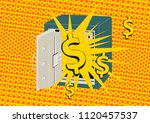 metal safe. cartoon safe with...   Shutterstock .eps vector #1120457537