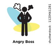 angry boss icon vector isolated ... | Shutterstock .eps vector #1120461281