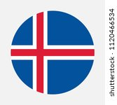 iceland flag  vector image and... | Shutterstock .eps vector #1120466534