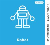 robot vector icon isolated on... | Shutterstock .eps vector #1120470644