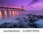 the bandra worli sea link | Shutterstock . vector #1120473941