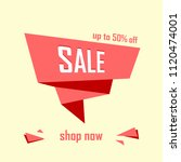 sale banner design template.... | Shutterstock .eps vector #1120474001