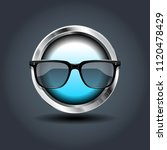 sun glasses  steely rounded...
