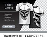 t shirt template  fully... | Shutterstock .eps vector #1120478474