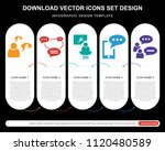 5 vector icons such as talk ... | Shutterstock .eps vector #1120480589