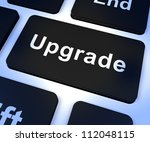 upgrade computer key shows... | Shutterstock . vector #112048115