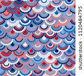 solemn american flag ribbons... | Shutterstock .eps vector #1120484795
