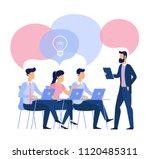 flat design business traning...   Shutterstock .eps vector #1120485311