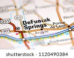 DeFuniak Springs. Florida. USA on a map