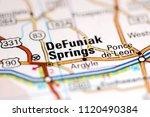 DeFuniak Springs. Florida. USA on a map
