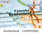 Bradenton. Florida. USA on a map