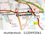 clermont. florida. usa on a map   Shutterstock . vector #1120492061