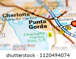 punta gorda. florida. usa on a... | Shutterstock . vector #1120494074