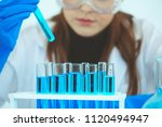 female scientist using a test... | Shutterstock . vector #1120494947