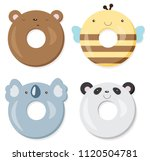 cute kawaii bear   panda  ... | Shutterstock .eps vector #1120504781