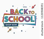 back to school   colorful... | Shutterstock .eps vector #1120508351