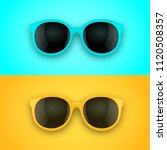 blue and yellow sunglasses... | Shutterstock .eps vector #1120508357