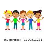 kids little boys and girls are... | Shutterstock .eps vector #1120511231