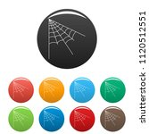 angle spiderweb icon. outline... | Shutterstock .eps vector #1120512551