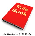 rule book or red policy guide... | Shutterstock . vector #112051364