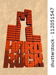 cool grungy hard rock banner.... | Shutterstock .eps vector #112051547