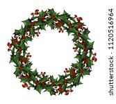 christmas card  a banner with a ... | Shutterstock .eps vector #1120516964