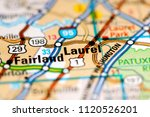 laurel. maryland. usa on a map | Shutterstock . vector #1120526201